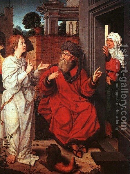 Abraham, Sarah, and the Angel by Jan Provost - Reproduction Oil Painting