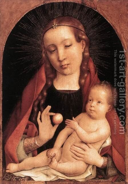 Virgin and Child by Jan Provost - Reproduction Oil Painting