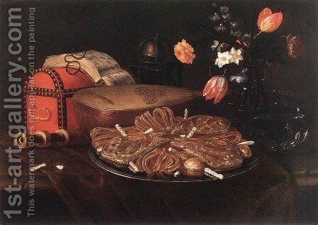 Still-life with the Five Senses by Giuseppe Recco - Reproduction Oil Painting