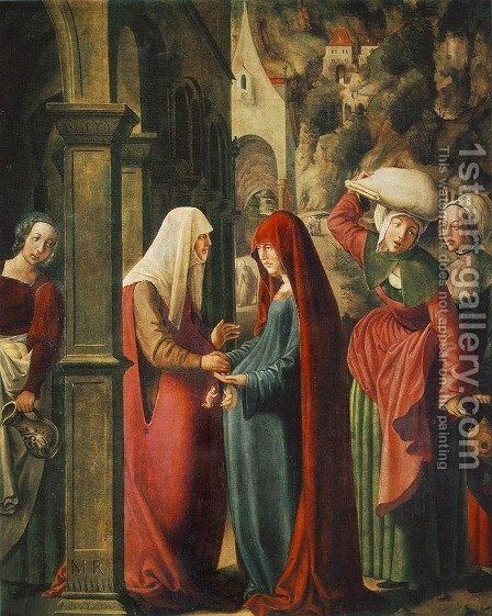 Meeting of Mary and Elisabeth by Marx Reichlich - Reproduction Oil Painting