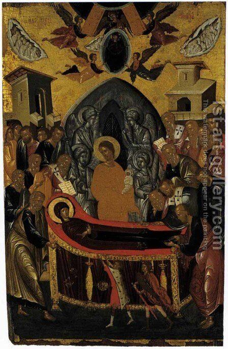 The Dormition of the Virgin by Andreas Ritzos - Reproduction Oil Painting