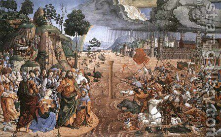 Crossing of the Red Sea by Cosimo Rosselli - Reproduction Oil Painting