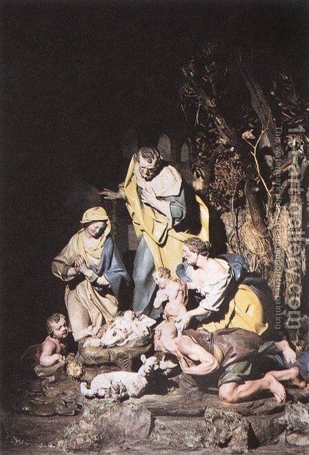 Nativity by Giuseppe Sammartino - Reproduction Oil Painting
