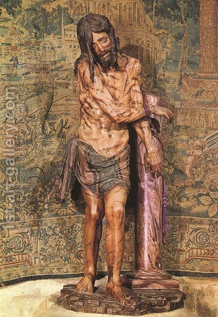 Christ at the Column by Diego de Siloe - Reproduction Oil Painting