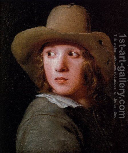 A Portrait Of A Young Man Wearing A Brown Hat by Michael Sweerts - Reproduction Oil Painting