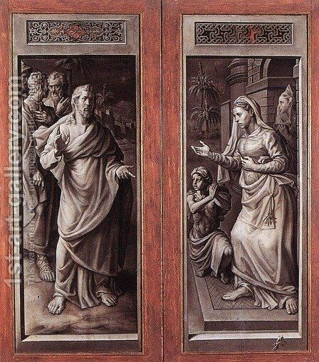 Triptych of the Micault Family (closed) by Jan Cornelisz Vermeyen - Reproduction Oil Painting