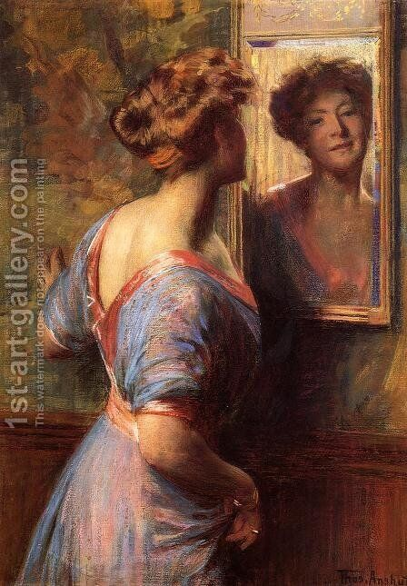 A Passing Glance by Thomas Pollock Anschutz - Reproduction Oil Painting
