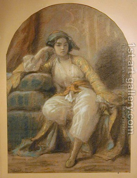 Oriental Woman by Charles François Jalabert - Reproduction Oil Painting