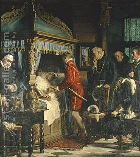 Chancellor Niels Kaas handing over the keys to Christian IV by Carl Heinrich Bloch - Reproduction Oil Painting