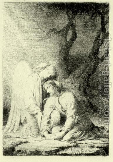 Christ at Gethsemane by Carl Heinrich Bloch - Reproduction Oil Painting