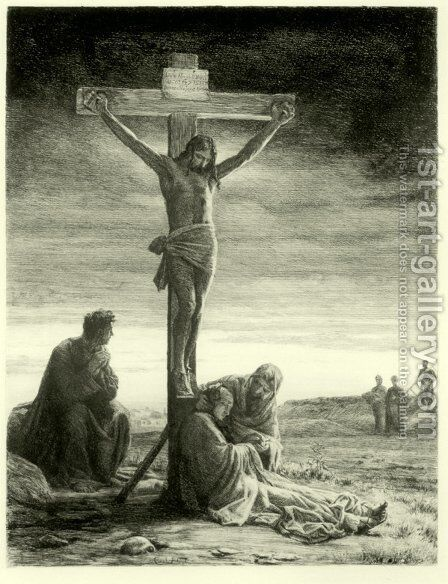Crucifixion of Christ by Carl Heinrich Bloch - Reproduction Oil Painting