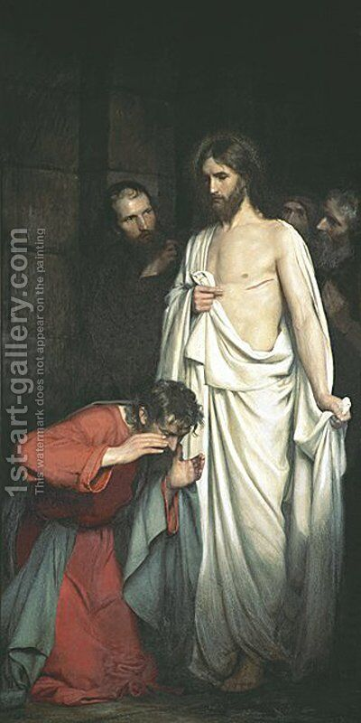 Doubting Thomas by Carl Heinrich Bloch - Reproduction Oil Painting