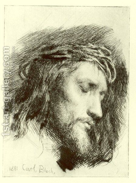 Portrait of Christ by Carl Heinrich Bloch - Reproduction Oil Painting