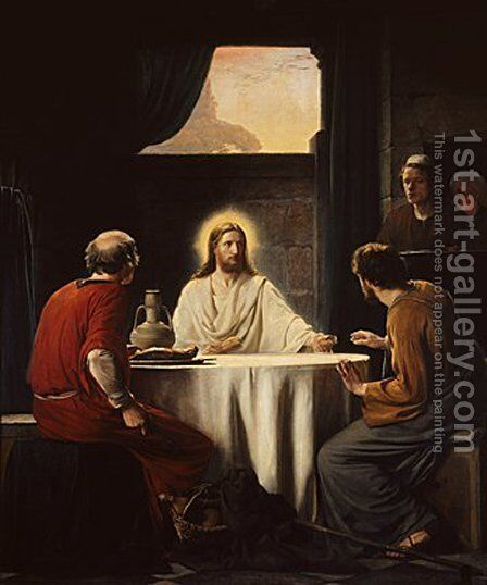 Supper at Emmaus by Carl Heinrich Bloch - Reproduction Oil Painting