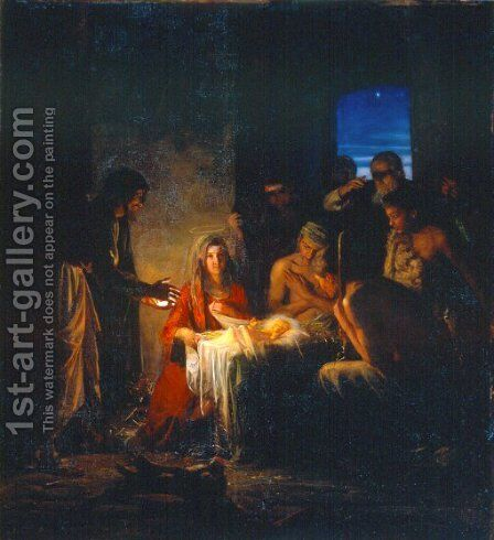 The Birth of Christ by Carl Heinrich Bloch - Reproduction Oil Painting