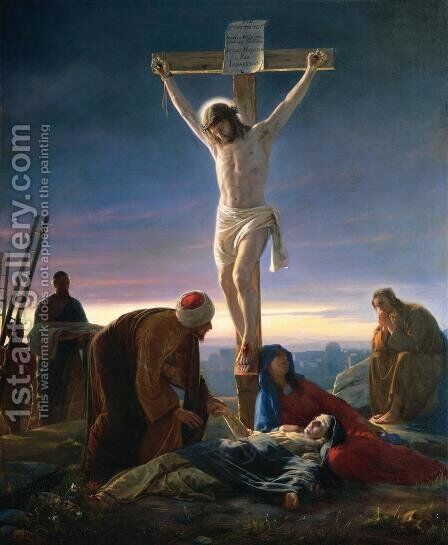 The Crucifixion by Carl Heinrich Bloch - Reproduction Oil Painting