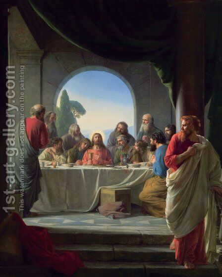 The Last Supper Painting By Carl Heinrich Bloch