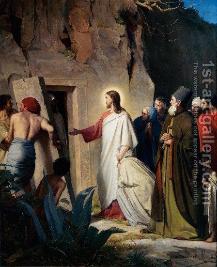 The Raising of Lazarus by Carl Heinrich Bloch - Reproduction Oil Painting