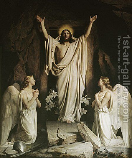 The Resurrection by Carl Heinrich Bloch - Reproduction Oil Painting