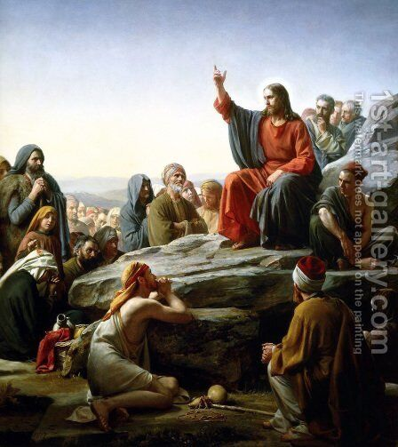 The Sermon on the Mount by Carl Heinrich Bloch - Reproduction Oil Painting