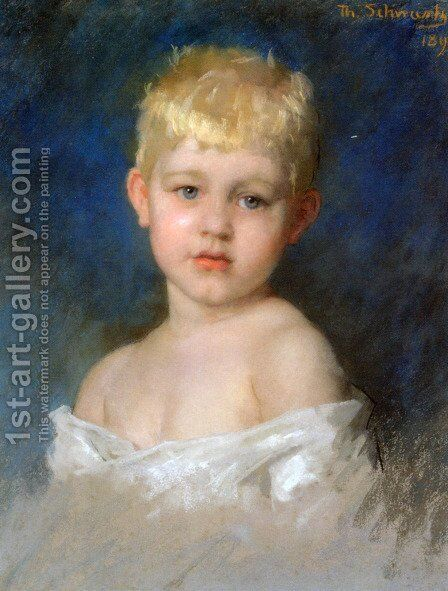 Portrait of a Young Boy by Thérèse Schwartze - Reproduction Oil Painting