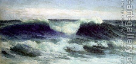 Breaking Waves by David James - Reproduction Oil Painting