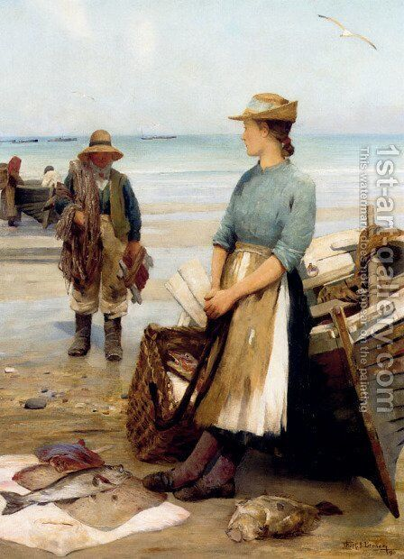 The Day's Catch by Thomas C. S. Benham - Reproduction Oil Painting