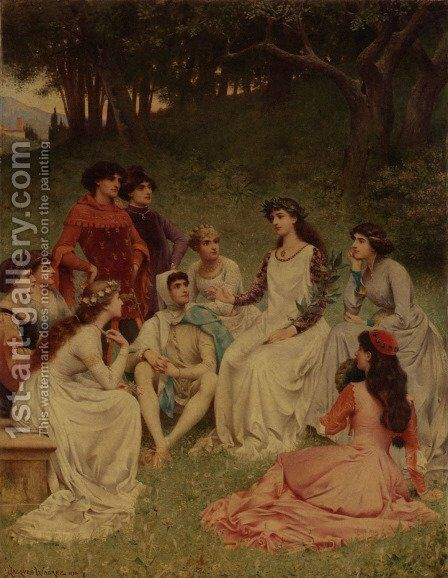 The Storyteller by Jacques-Clement Wagrez - Reproduction Oil Painting