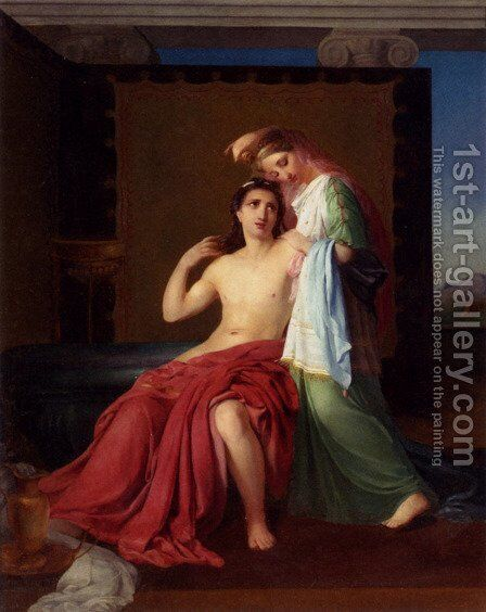 Paris And Helen by Henri-Joseph Duwee - Reproduction Oil Painting