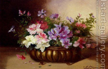 Summer Blooms in an Urn by Adolphe Louis Castex-Degrange - Reproduction Oil Painting
