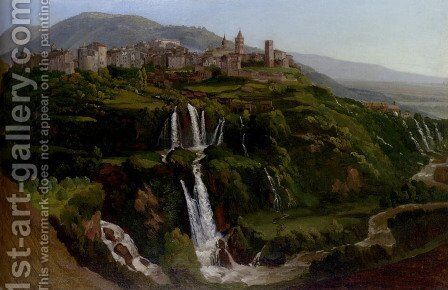 The Cascades At Tivoli by Gustaf-Wilhelm Palm - Reproduction Oil Painting