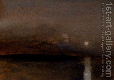 Sunset on the Sea by Jean-Baptiste-Adolphe Gibert - Reproduction Oil Painting