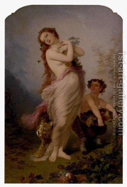 Allegory Of Autumn by André Charles Voillemot - Reproduction Oil Painting