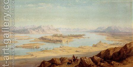 Above Aswan by Charles Vacher - Reproduction Oil Painting