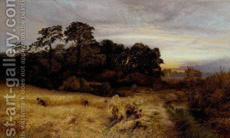 The Golden Time of Autumn by A. Brandish Holte - Reproduction Oil Painting