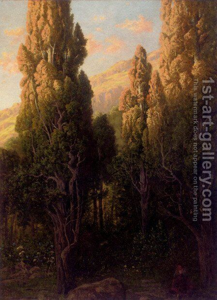 A Rest In The Woods by Adolf Eduard Storck - Reproduction Oil Painting