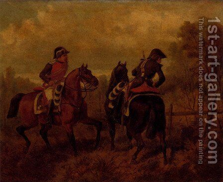 French Dragoons by Charles De Luna - Reproduction Oil Painting