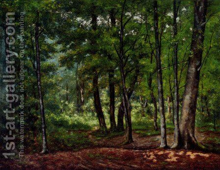Towards A Woodland Clearing by Charles Vuagniaux - Reproduction Oil Painting