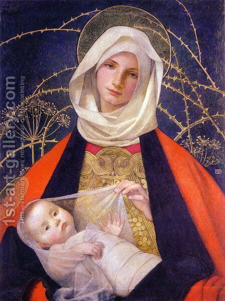 Madonna and Child by Marianne Preindelsberger Stokes - Reproduction Oil Painting