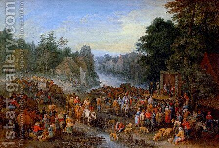 The Village Fair by Theobald Michau - Reproduction Oil Painting