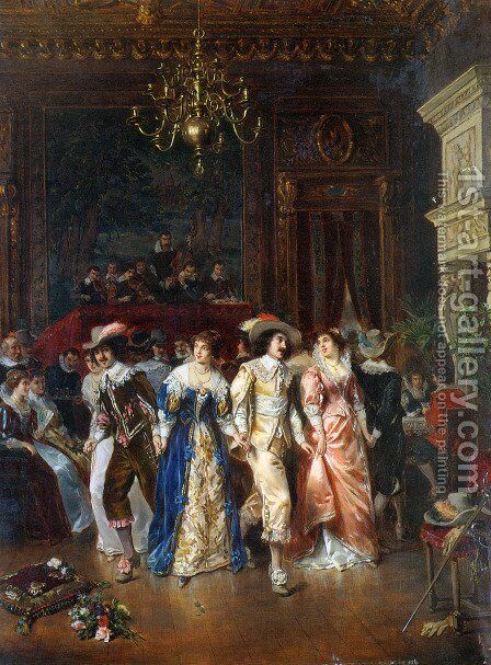 The Dance by Herman Maurice Cossmann - Reproduction Oil Painting