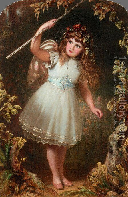 A Little Stage Fairy by Alfred Patten - Reproduction Oil Painting