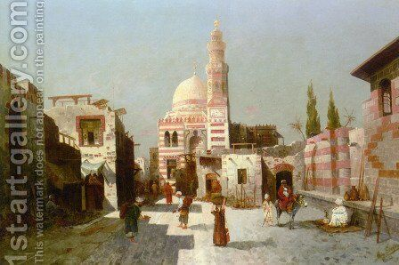 Entrance to the Complex of Sultan Quatbay, Cairo by August von Siegen - Reproduction Oil Painting