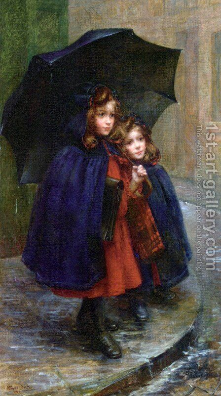 Off to School by Marthe Marie Louise Boyer-Breton - Reproduction Oil Painting