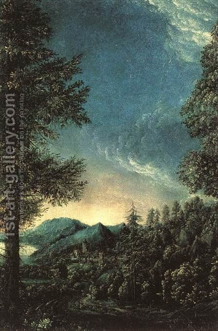 The Danube Valley near Regensburg by Albrecht Altdorfer - Reproduction Oil Painting