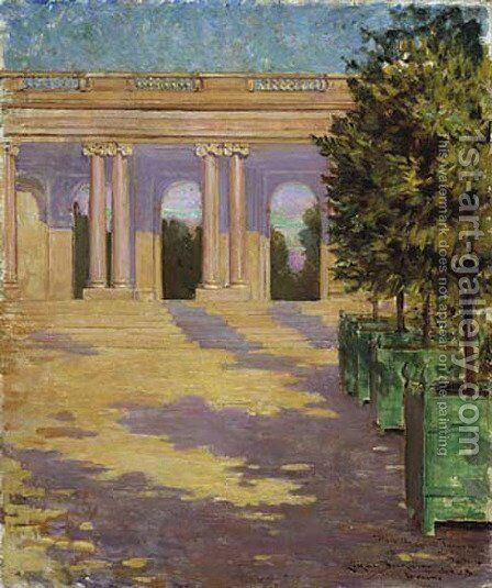 Arcade of the Grand Trianon, Versailles by James Carroll Beckwith - Reproduction Oil Painting