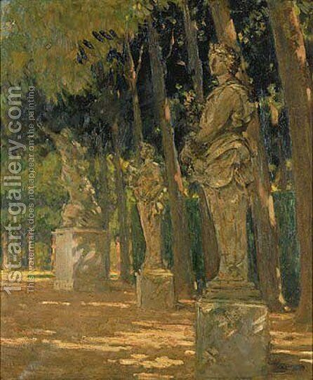 Carrefour at the End of the Tapis Vert, Versailles by James Carroll Beckwith - Reproduction Oil Painting