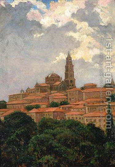 Cathedral at le Puy by James Carroll Beckwith - Reproduction Oil Painting
