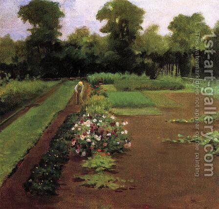 New Hamburg Garden by James Carroll Beckwith - Reproduction Oil Painting