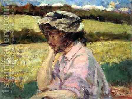 Lost in Thought by James Carroll Beckwith - Reproduction Oil Painting